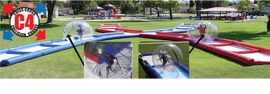 Challenge your opponent to a race down the track in a hamster ball.