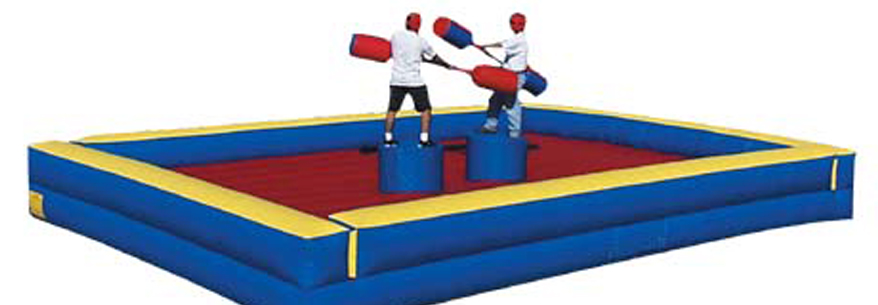 Battle your friends on this classic feat of strength and balance to claim your spot as king or queen of the gladiators!